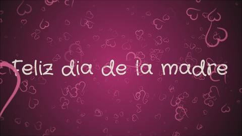 Animation Feliz dia de la madre, Happy Mother's day in spanish language Footage