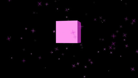 3d purple thank you outro with flying purple particles,... Stock Video Footage