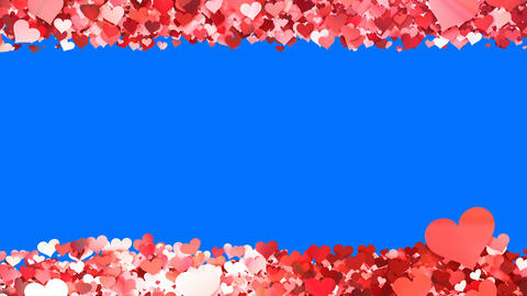 Glitter Heart Frame 5 Sh Red 4k CG動画素材