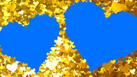 Glitter Heart Frame 5 Wh Gold 4k Animation