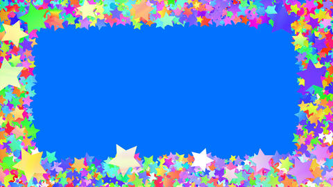 Glitter Star Frame 5 Bs Colorful 4k Stock Video Footage