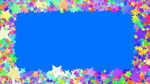 Glitter Star Frame 5 Bs Colorful 4k Animation