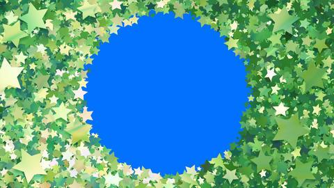 Glitter Star Frame 5 Cs Green 4k Animation
