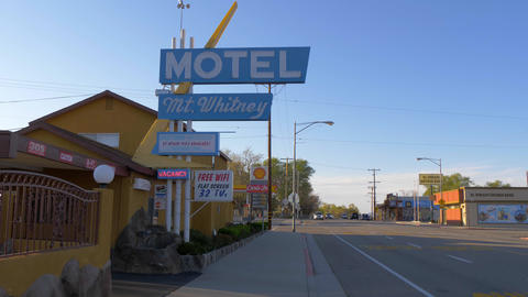Mount Whitney Motel in the historic village of Lone Pine - LONE PINE CA, USA - Live Action