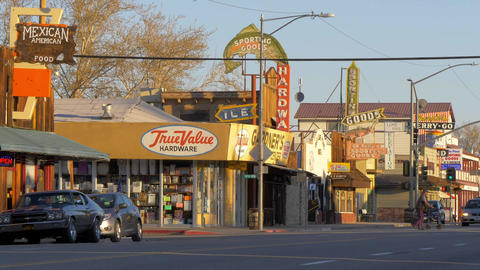 Main street in the historic village of Lone Pine - LONE PINE CA, USA - MARCH 29 Live Action
