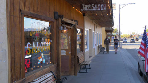 Jakes Wild West Saloon in the historic village of Lone Pine - LONE PINE CA, USA Live Action