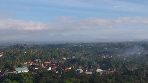 Aerial View Ubud Bali Live Action