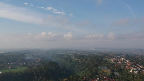 Aerial View Ubud Bali Footage