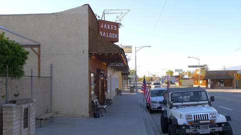 Jakes Western Saloon in the historic village of Lone Pine - LONE PINE CA, USA - Footage