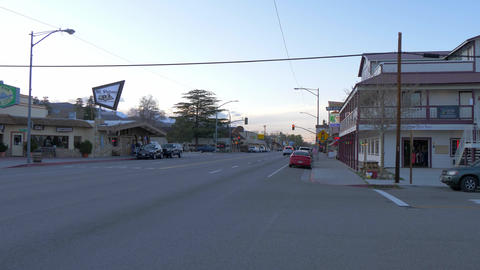 Typical street view in the historic village of Lone Pine - LONE PINE CA, USA - Footage