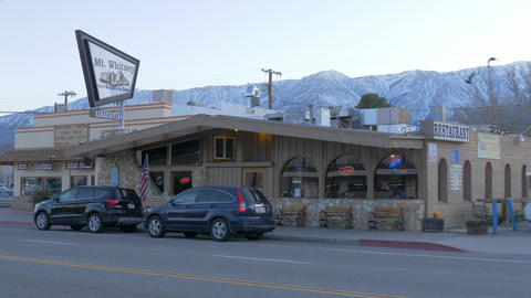 Mt Whitney Motel in the historic village of Lone Pine - LONE PINE CA, USA - Footage