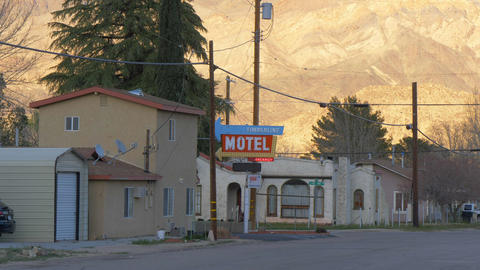 Timberline Motel in the historic village of Lone Pine - LONE PINE CA, USA - Footage