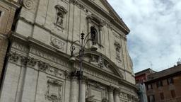 Italy Rome 037 Santa Maria in Vallicella catholic church Footage