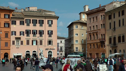 Italy Rome 043 Southern European houses at Piazza Navona Footage