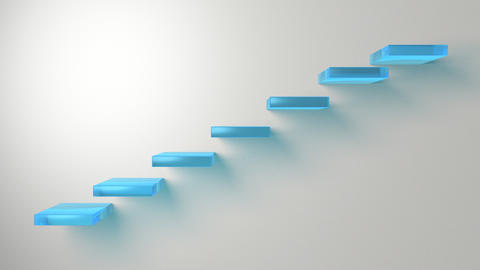 3d Stairs moving to the beat of the steps Animation