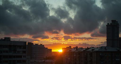 City Sunset 4k stock footage