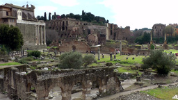Italy Rome 090 archaeology excavation site Roman Forum Footage