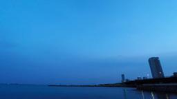Tokyo Bay Of Dawn/東京湾の夜明け stock footage