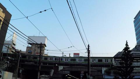 Tokyo city scenery. Yamanote line Otsuka station ビデオ