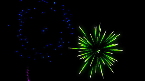 Fireworks transparence background alpha Animation