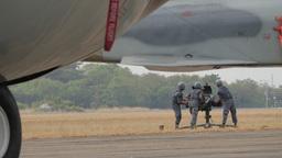 Military practising antiaircraft weapon,Ubon Ratchathani,Thailand Footage