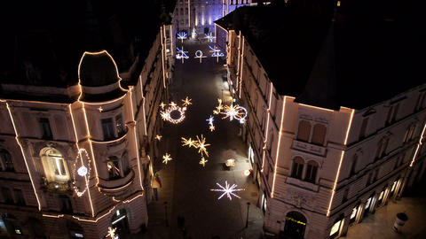 Aerial - Christmas lighting display Footage
