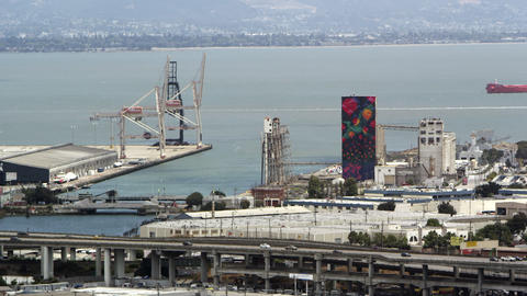 San Francisco, industrial waterfront Footage