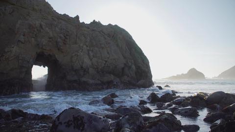 Dramatic rocks near Pfeiffer beach Footage