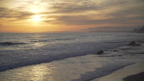 Beautiful beach at Mesa Beach Footage