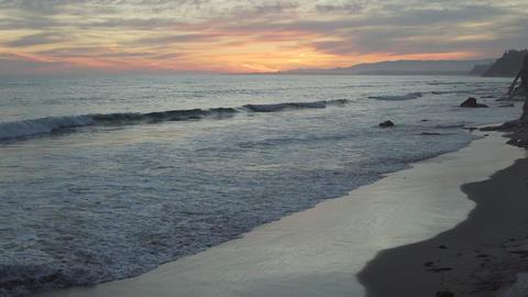 Sun has set at the beautiful Mesa Beach Footage