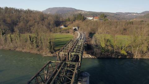 Aerial - Railway bridge Live Action