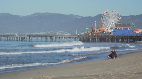 Family near the Santa Monica Pier Footage