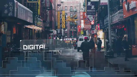 Slideshow - Digital Mosaic After Effects Template