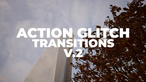 Action Glitch Transitions V 2 Premiere Pro Template