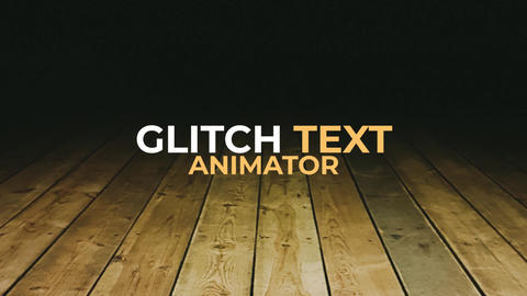 Glitch Text Animator Premiere Proテンプレート