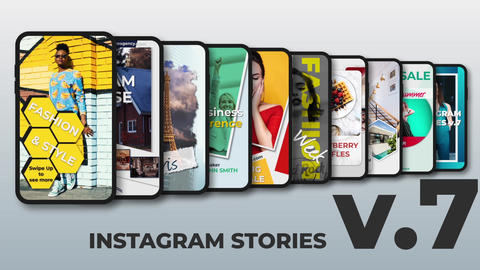 Instagram Stories v 7 After Effects Template