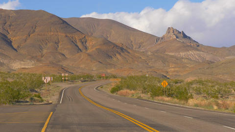 Scenic road through Death Valley National Park Live Action