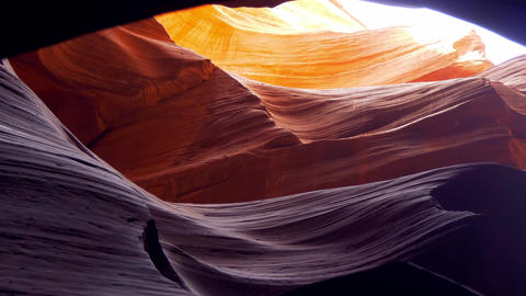 Wonderful colors of the Upper Antelope Canyon Live Action