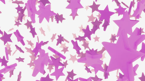 Pink stars animation (loop ready animation) Stock Video Footage