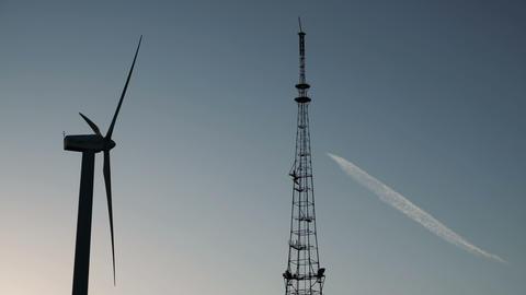 Wind power windmill station production energy ビデオ