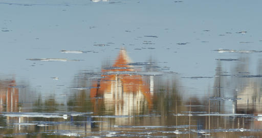 house reflected in the river Footage