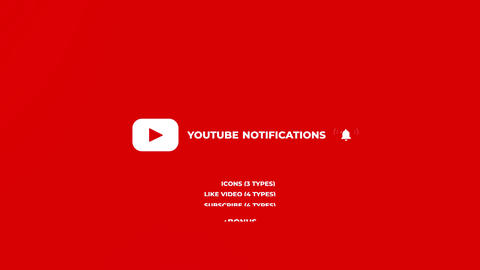 Youtube Notifications After Effects Template