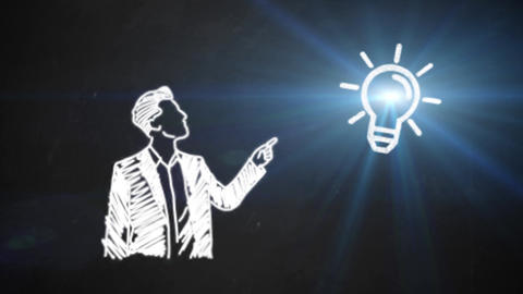 Hand drawn animated light bulb invention or idea concept Animation