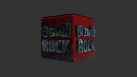 Punk Rock Title Rotating for a Lower Third in Alpha Channel ライブ動画