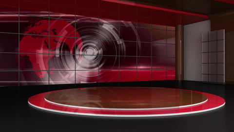 News TV Studio Set 312- Virtual Green Screen Background Loop Live Action