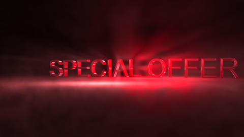 Special offer sales banner Animation