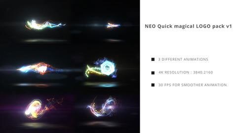 Neo Quick Magical Logo Pack V1 After Effects Template