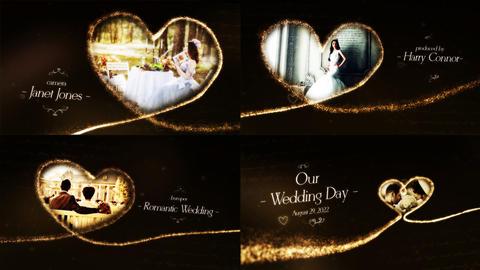 Romantic Wedding Slideshow Pack Premiere Proテンプレート