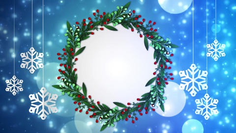 Winter Frame Background 01 Animation
