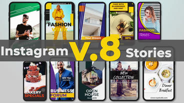 Instagram Stories v 8 After Effects Template